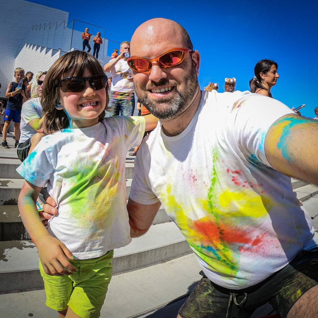 Color Run with my son